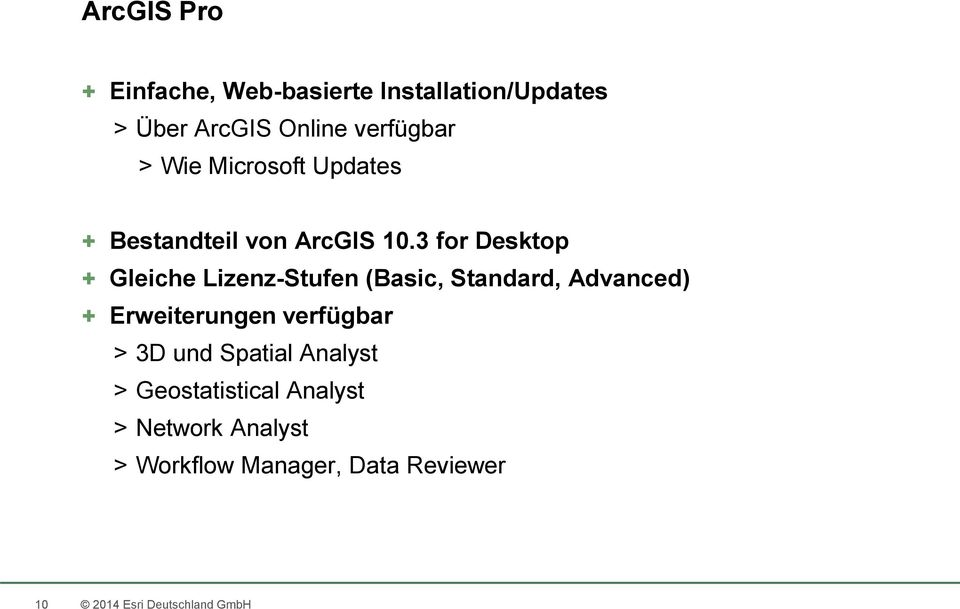 3 for Desktop + Gleiche Lizenz-Stufen (Basic, Standard, Advanced) + Erweiterungen