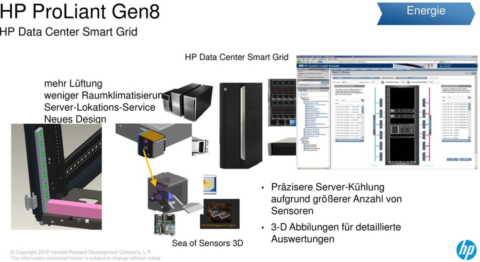 Server-Lokations-Service Neues Design Sea of Sensors 3D Präzisere