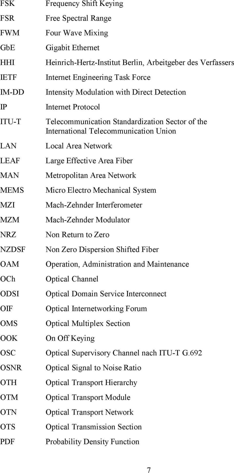 International Telecommunication Union Local Area Network Large Effective Area Fiber Metropolitan Area Network Micro Electro Mechanical System Mach-Zehnder Interferometer Mach-Zehnder Modulator Non