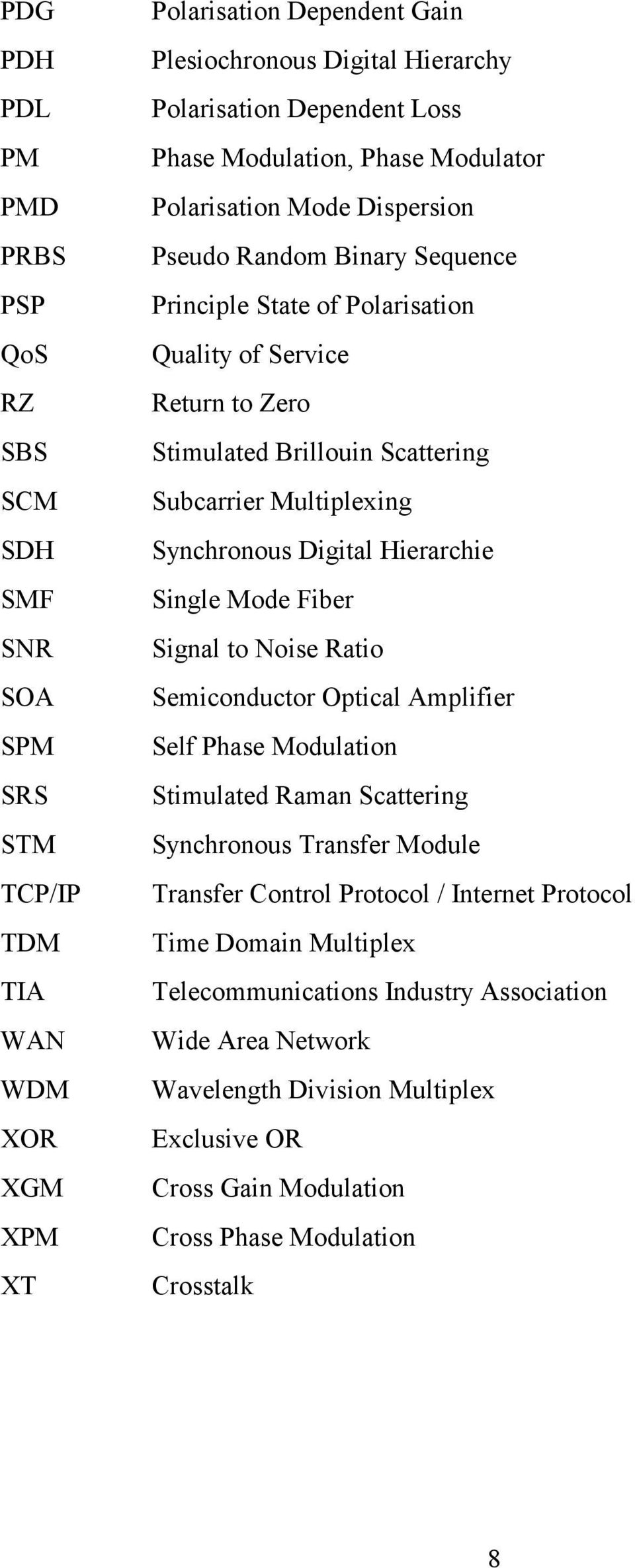 Subcarrier Multiplexing Synchronous Digital Hierarchie Single Mode Fiber Signal to Noise Ratio Semiconductor Optical Amplifier Self Phase Modulation Stimulated Raman Scattering Synchronous Transfer