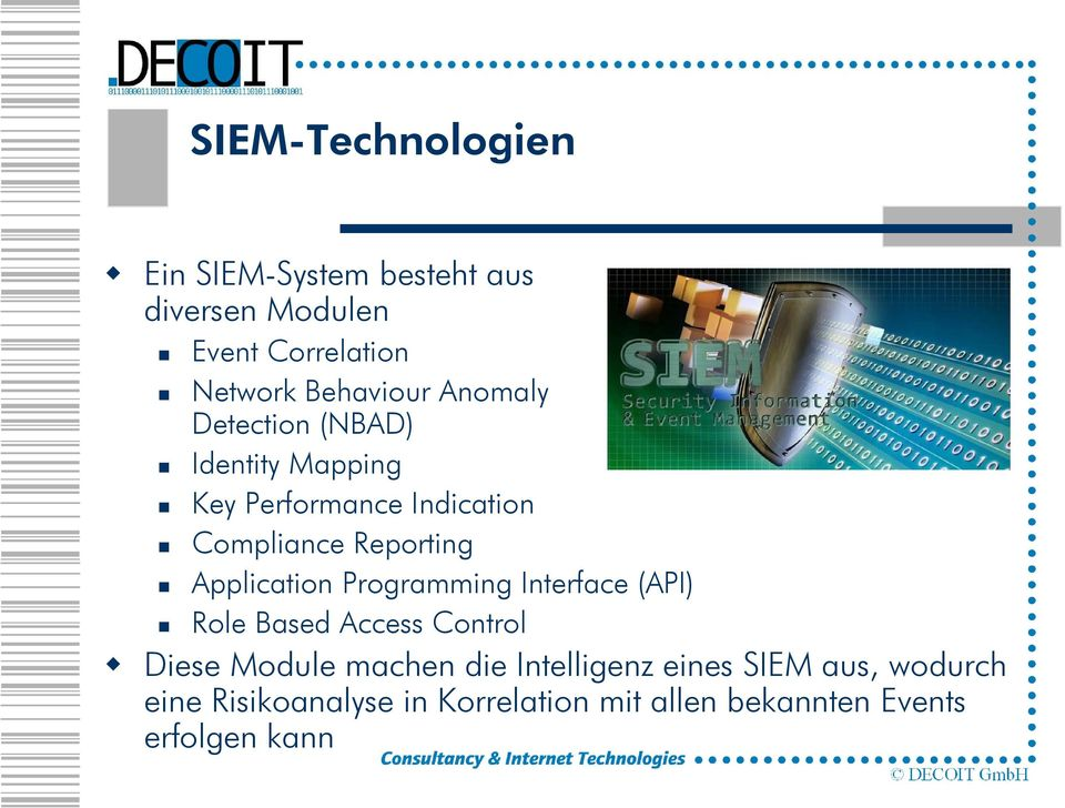 Reporting Application Programming Interface (API) Role Based Access Control Diese Module machen