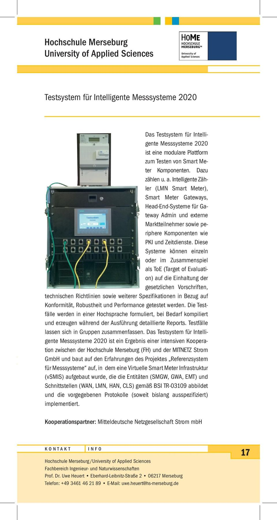 Intelligente Zähler (LMN Smart Meter), Smart Meter Gateways, Head-End-Systeme für Gateway Admin und externe Marktteilnehmer sowie periphere Komponenten wie PKI und Zeitdienste.