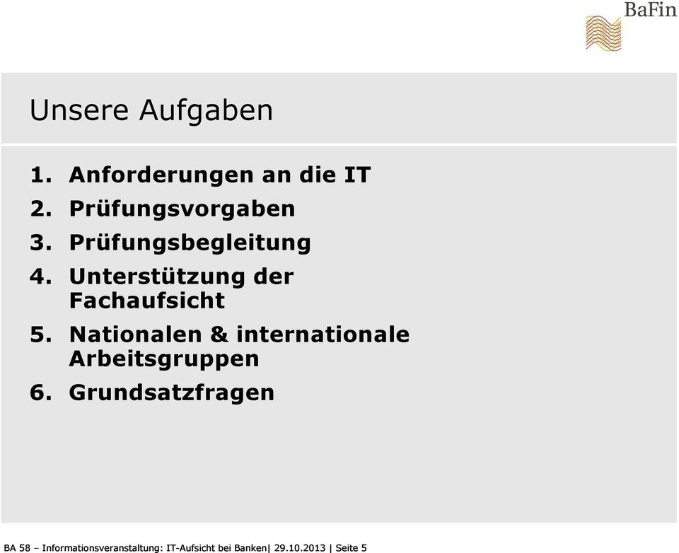 Nationalen & internationale Arbeitsgruppen 6.