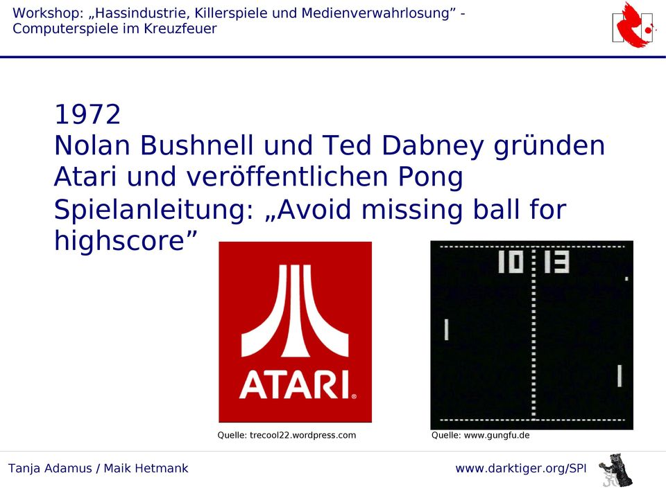 Spielanleitung: Avoid missing ball for
