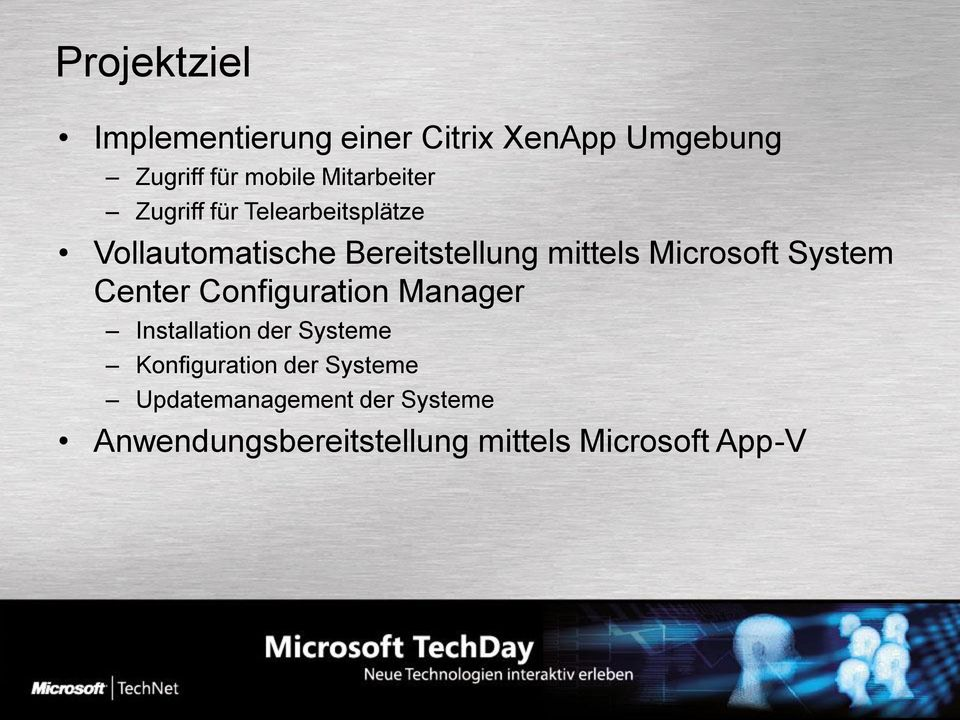 Microsoft System Center Configuration Manager Installation der Systeme
