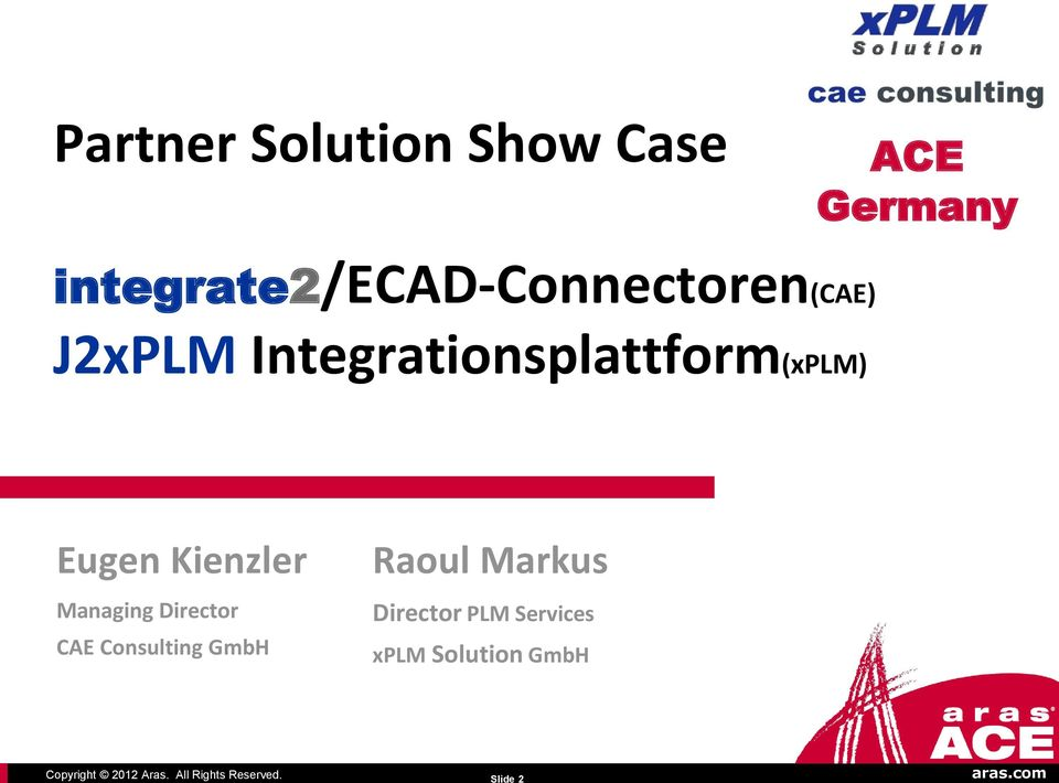 Integrationsplattform(xPLM) Eugen Kienzler Managing