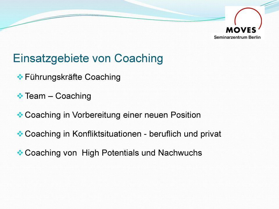 Position Coaching in Konfliktsituationen - beruflich
