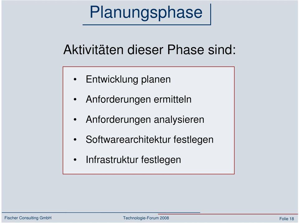 Anforderungen analysieren Softwarearchitektur festlegen