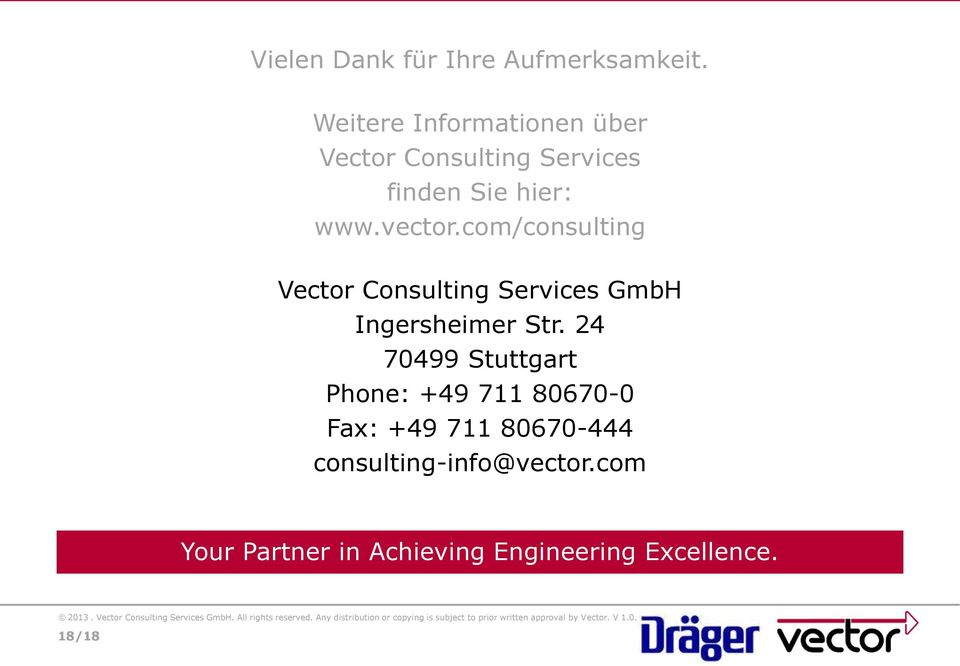 com/consulting Vector Consulting Services GmbH Ingersheimer Str.