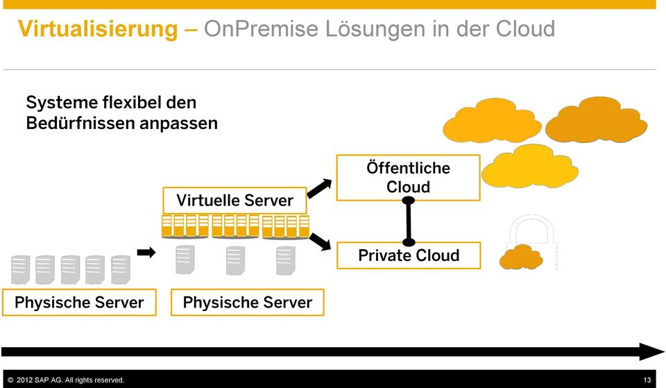 Server Öffentliche Cloud Private Cloud Physische