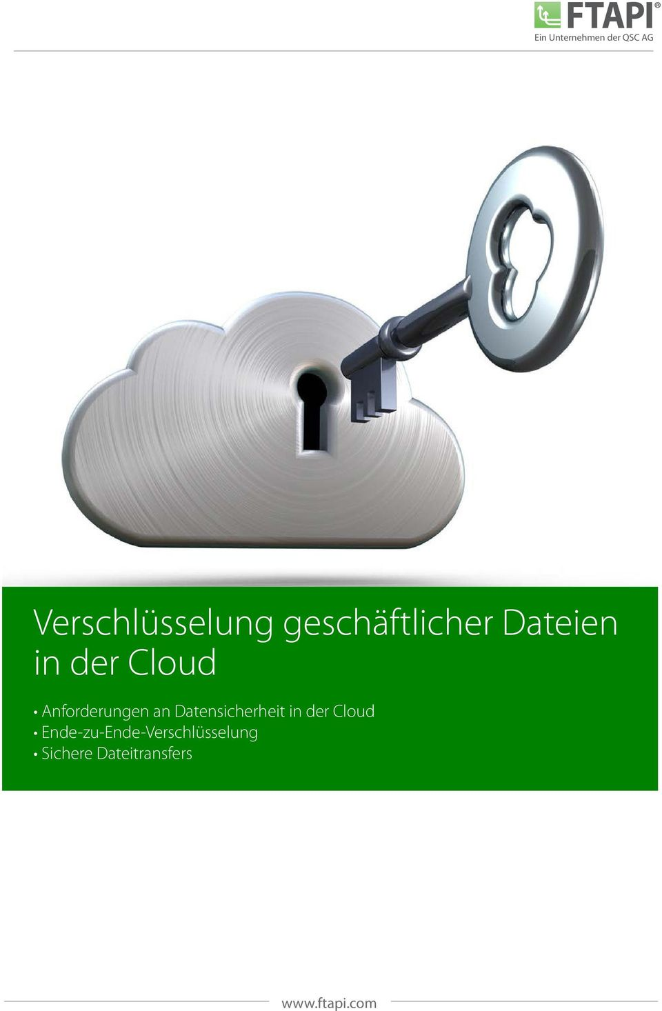 Datensicherheit in der Cloud