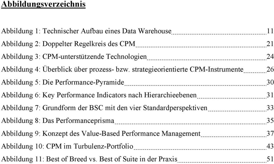strategieorientierte CPM-Instrumente 26 Abbildung 5: Die Performance-Pyramide 30 Abbildung 6: Key Performance Indicators nach Hierarchieebenen 31 Abbildung 7: