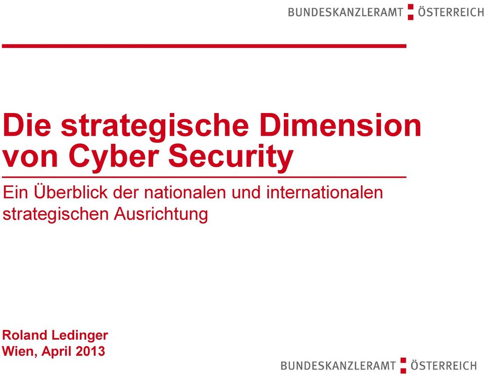 und internationalen strategischen