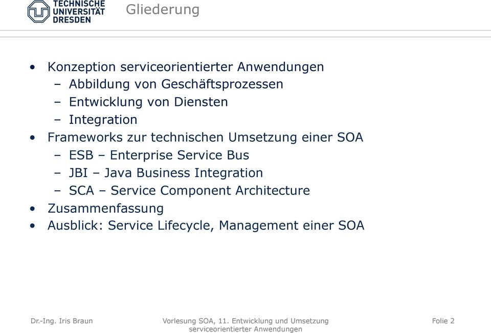 Enterprise Service Bus JBI Java Business Integration SCA Service Component