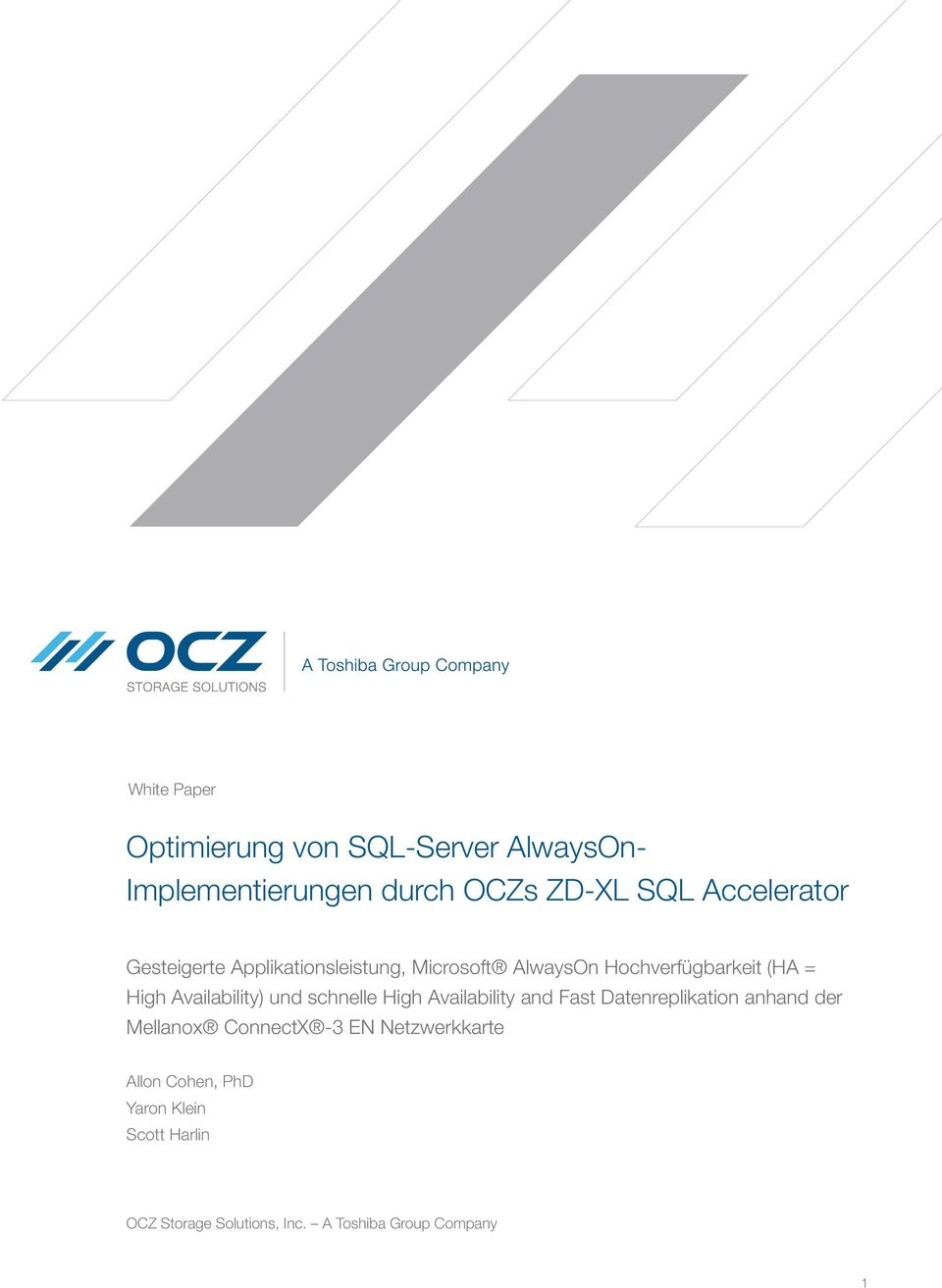 schnelle High Availability and Fast Datenreplikation anhand der Mellanox ConnectX -3 EN