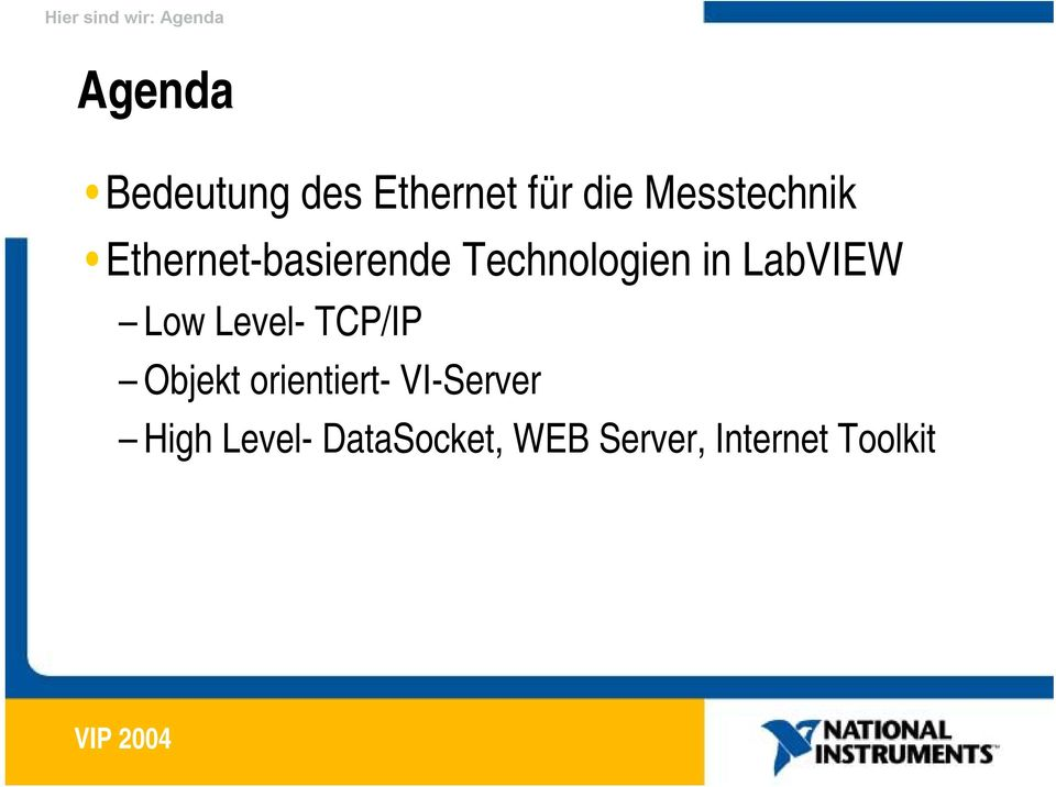 in LabVIEW Low Level- TCP/IP Objekt orientiert-