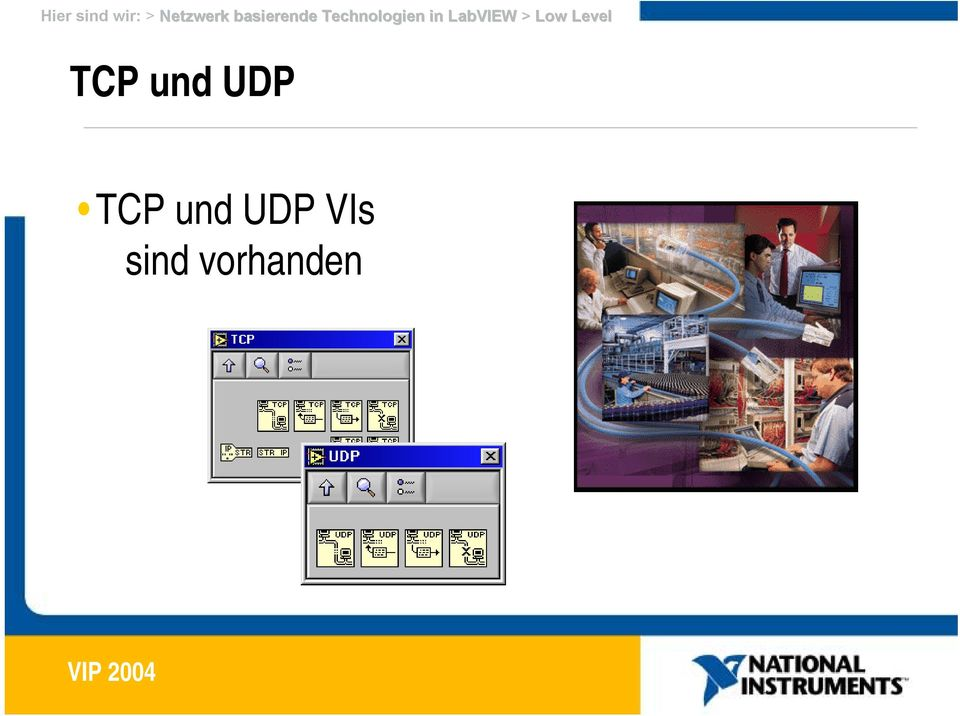 LabVIEW > Low Level TCP und