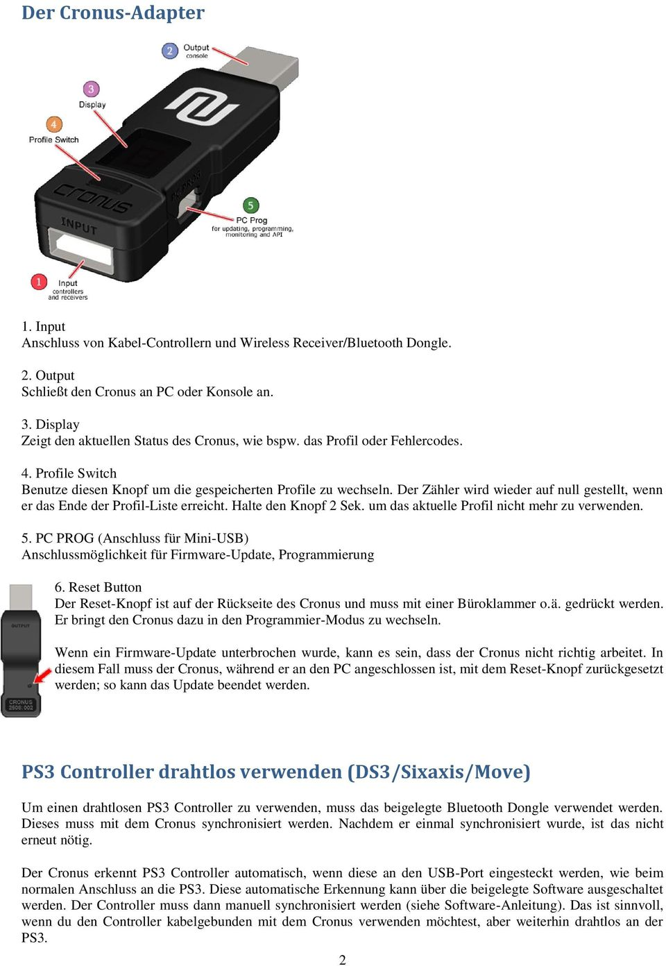PS3 Controller drahtlos verwenden (DS3/Sixaxis/Move) - PDF