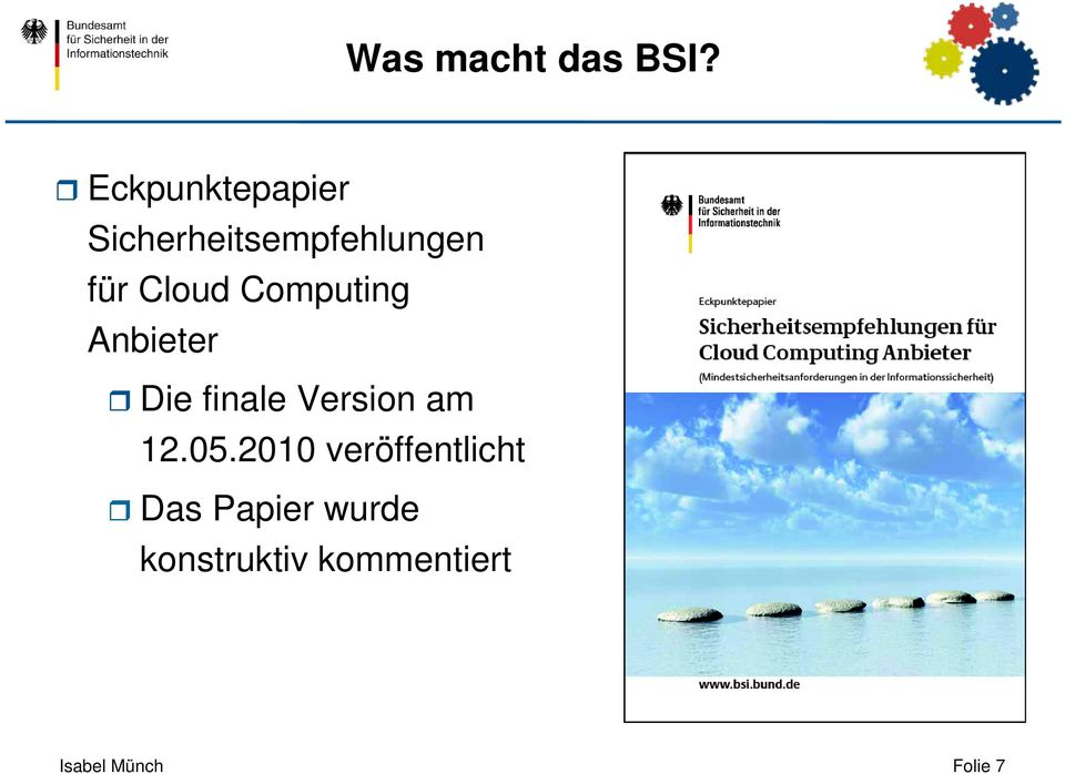 Computing Anbieter Die finale Version am 12.05.