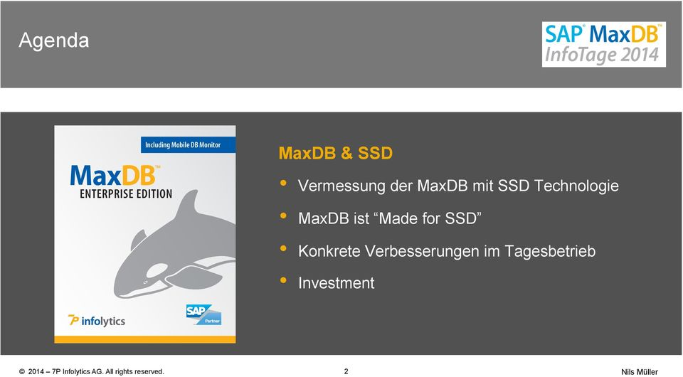 Technologie MaxDB ist Made for SSD Konkrete