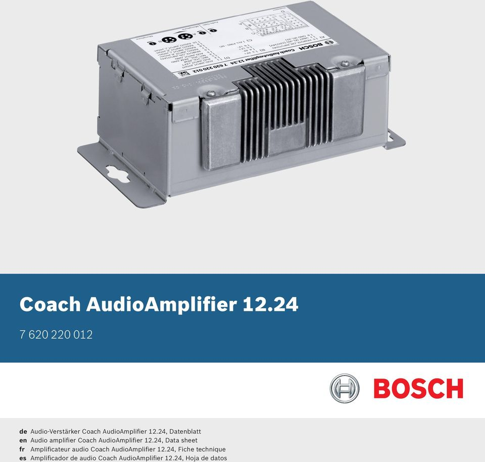 24, Data sheet fr Amplificateur audio 24, Fiche technique es