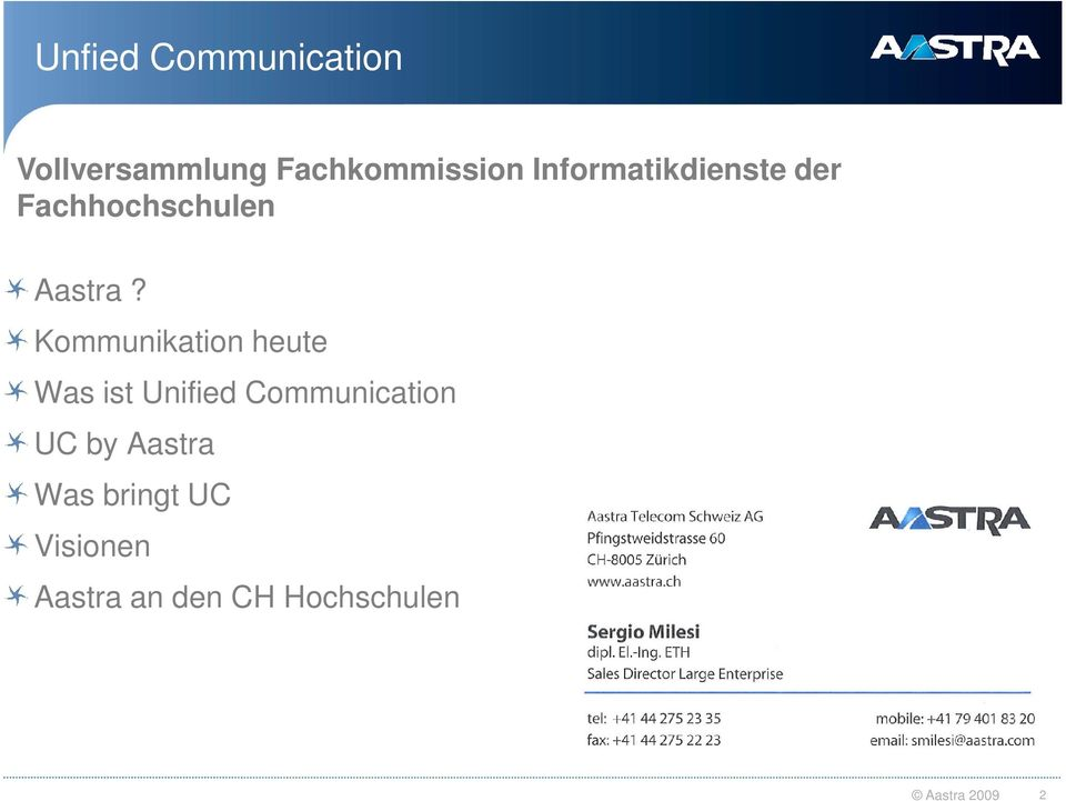 Kommunikation heute Was ist Unified Communication UC by