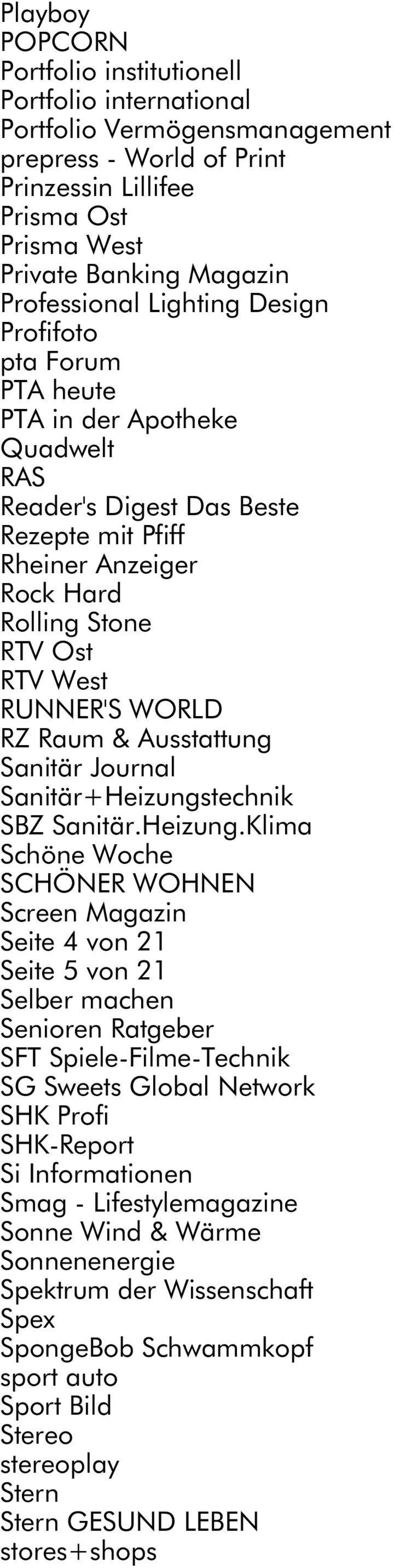 RUNNER'S WORLD RZ Raum & Ausstattung Sanitär Journal Sanitär+Heizungs