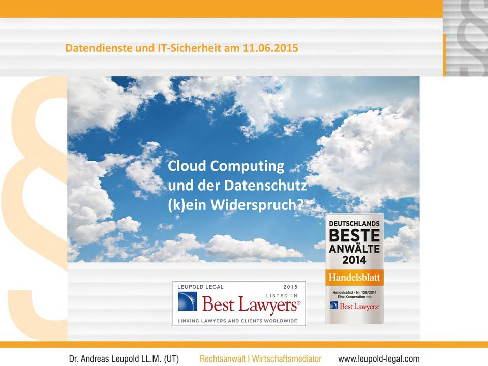 2015 Cloud Computing und
