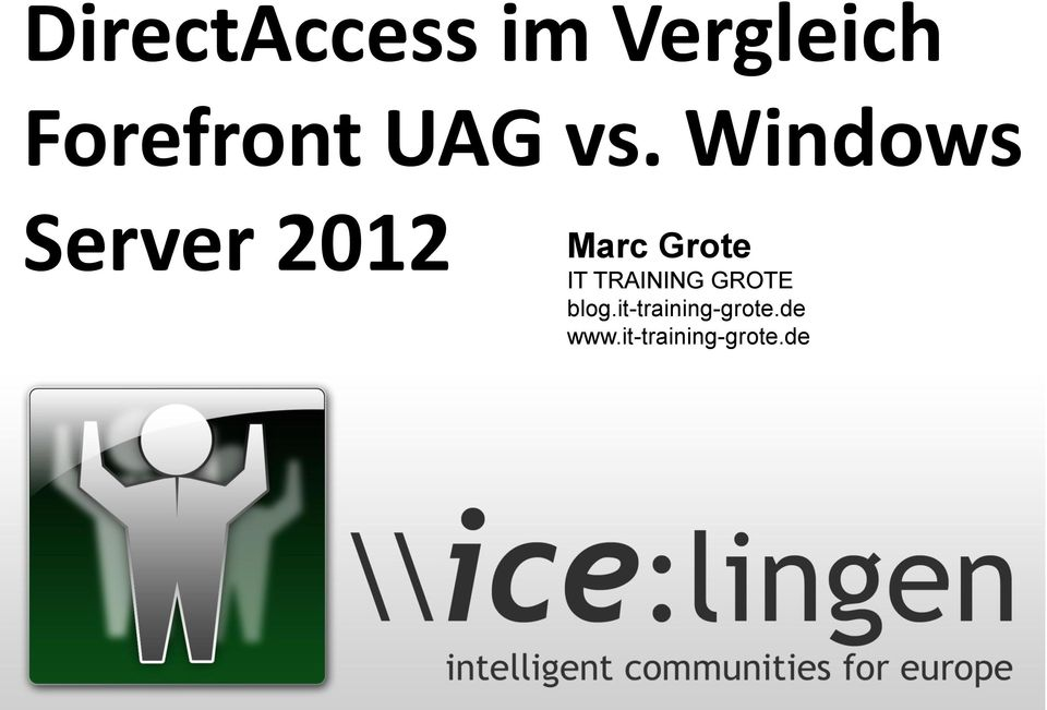 Windows Server 2012 Marc Grote IT