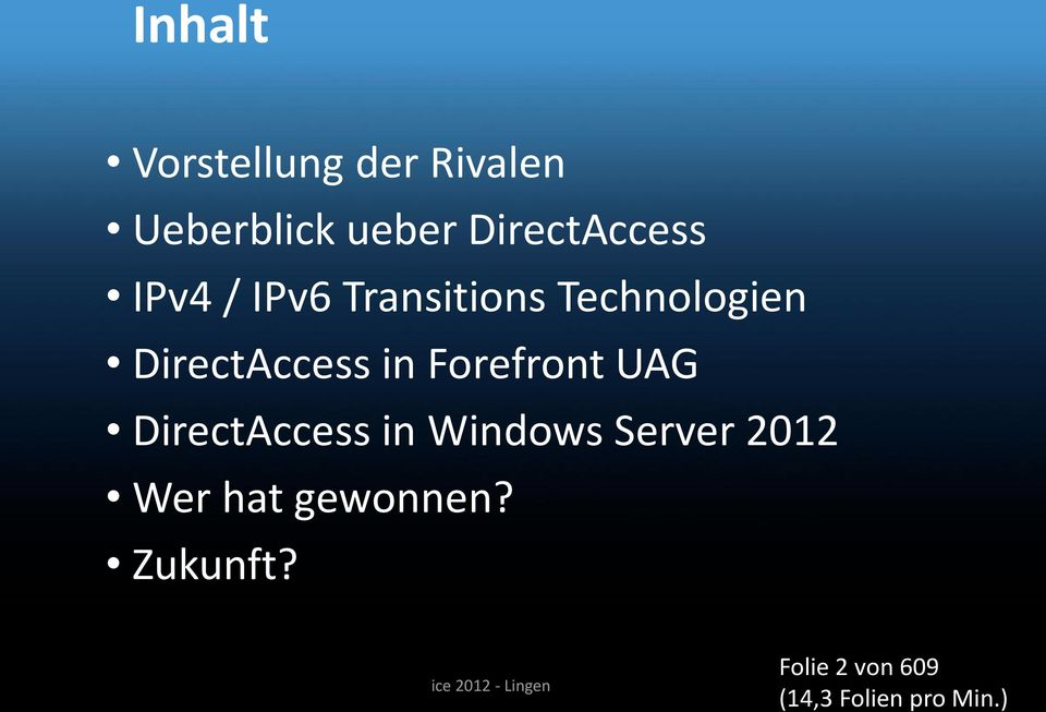 Forefront UAG DirectAccess in Windows Server 2012 Wer hat