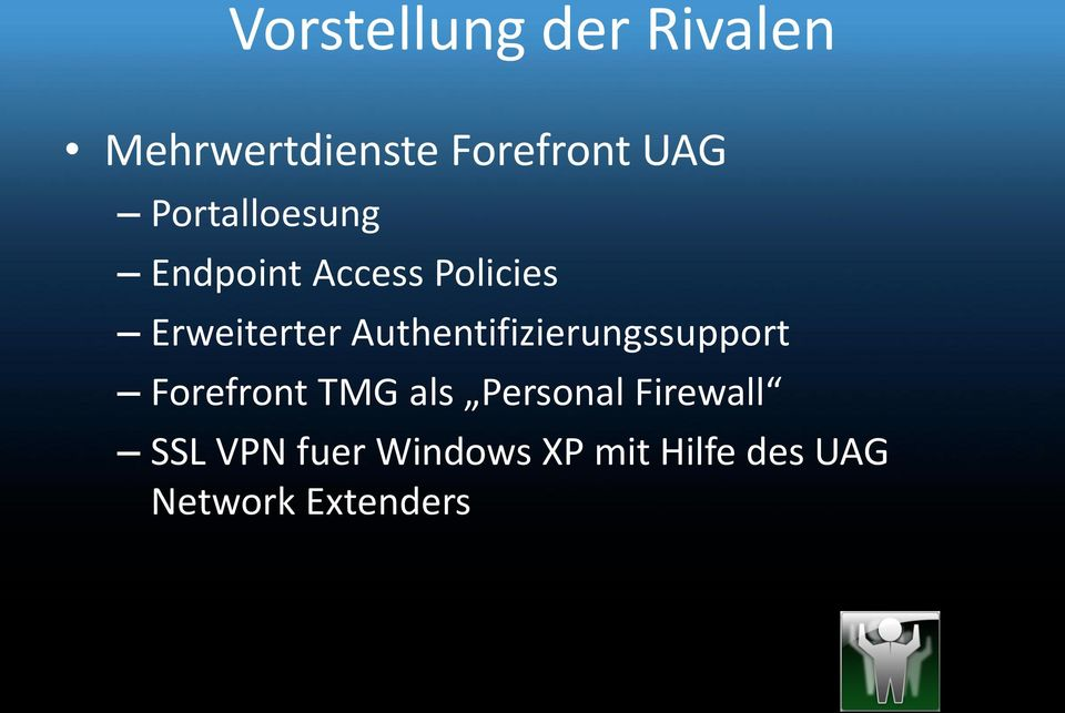 Authentifizierungssupport Forefront TMG als Personal
