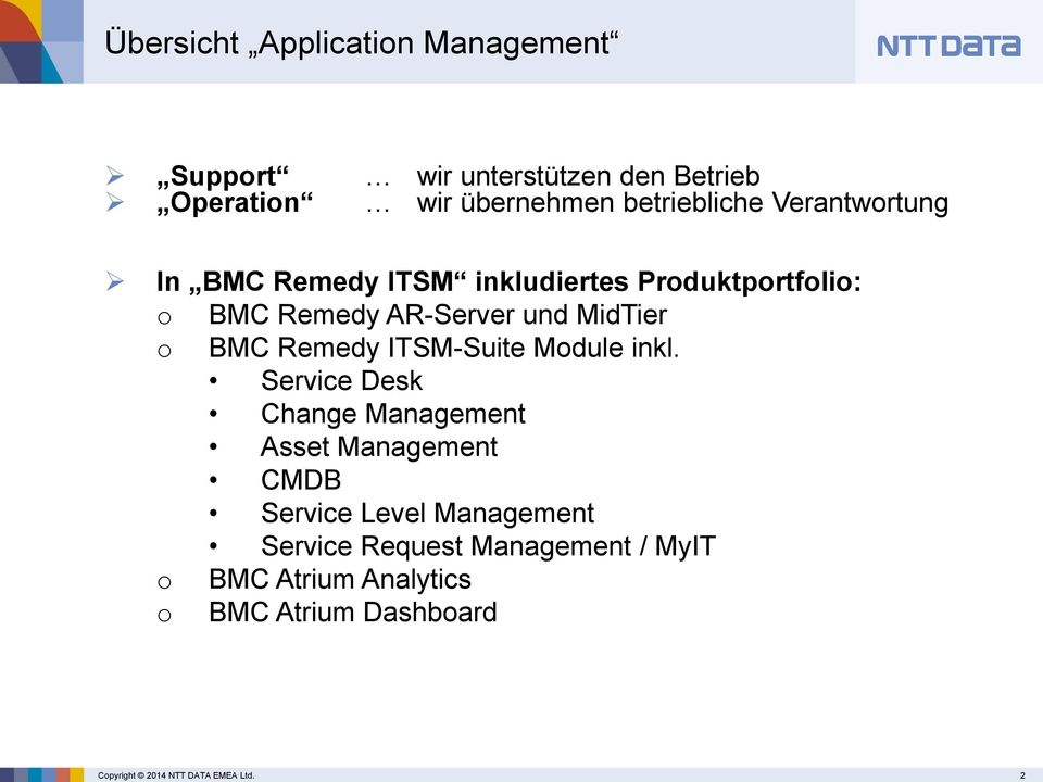 Remedy ITSM-Suite Module inkl.
