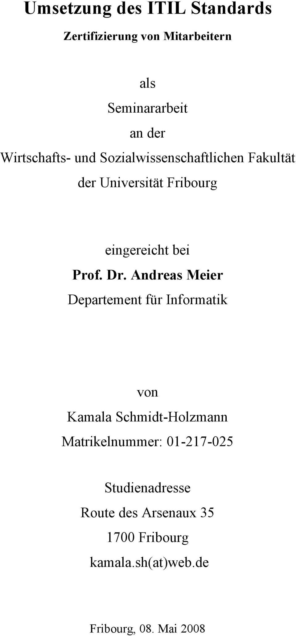 bei Prof. Dr.