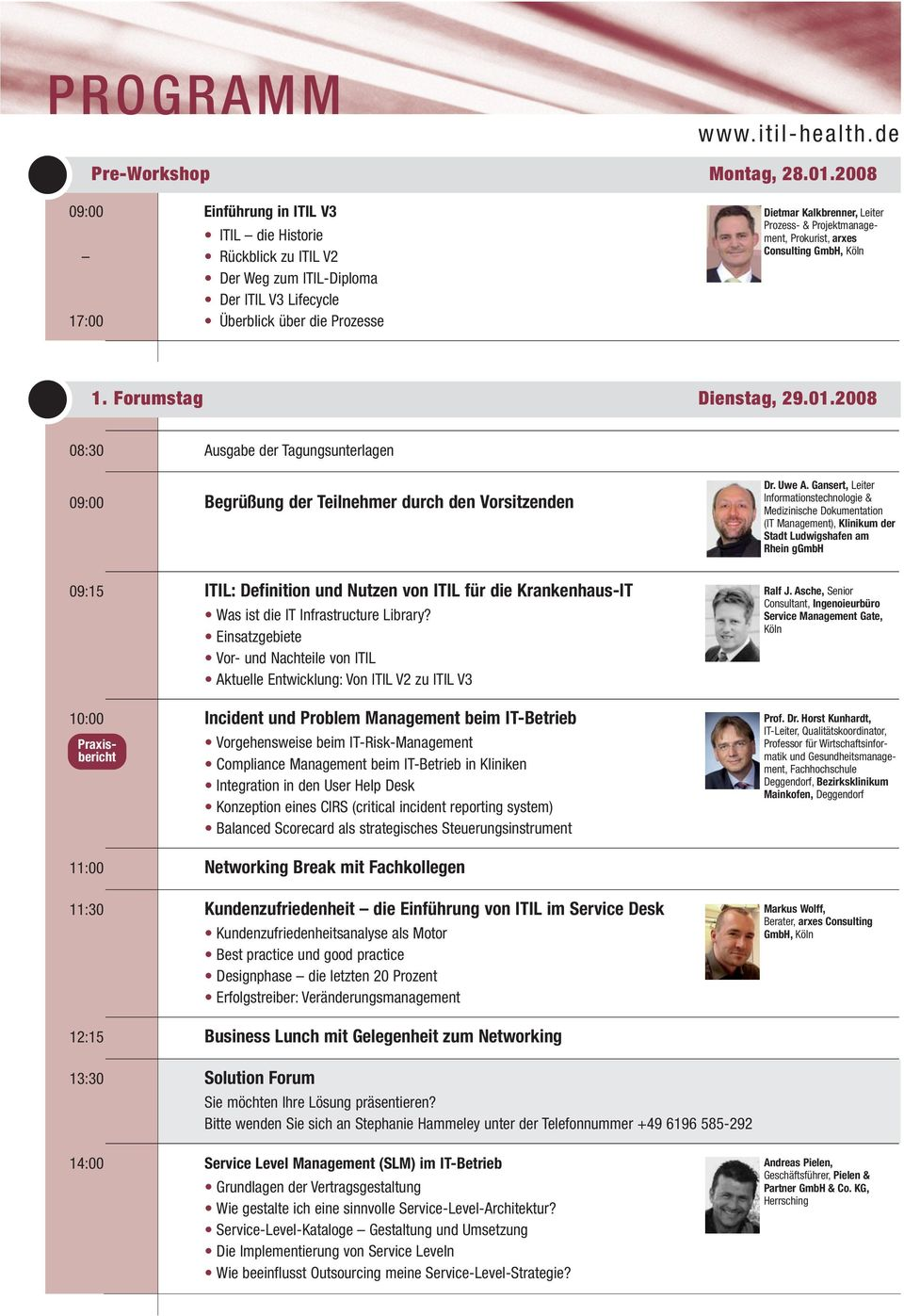 manage - ment, Prokurist, arxes Consulting GmbH, Köln 1. Forumstag Dienstag, 29.01.