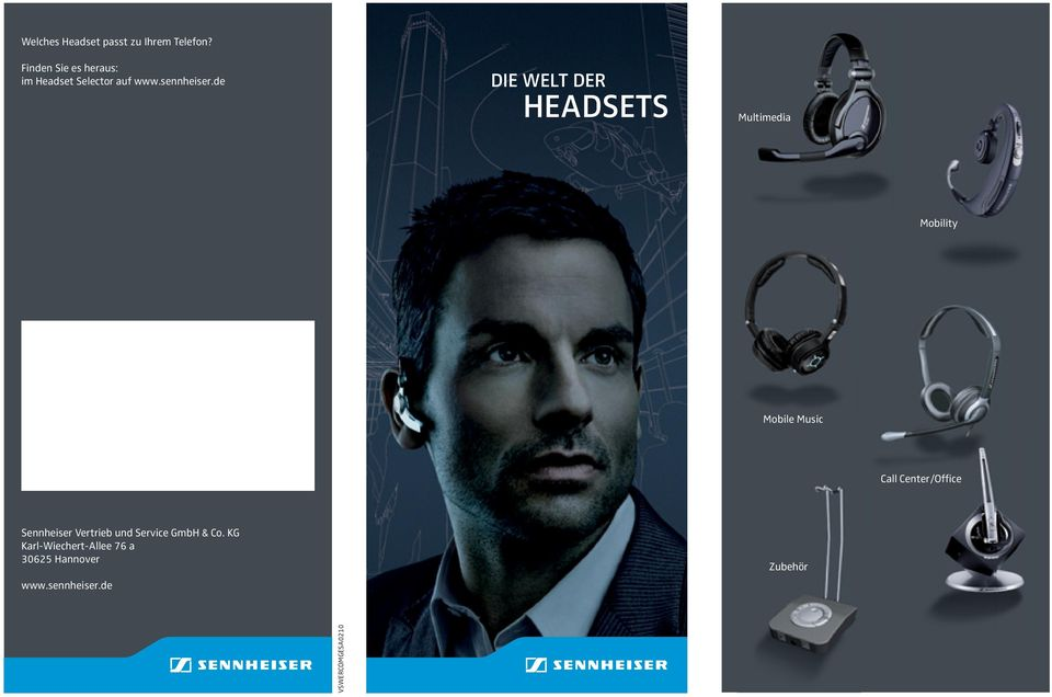 de Die Welt Der HeaDsets Multimedia Mobility Mobile Music Call Center/Office