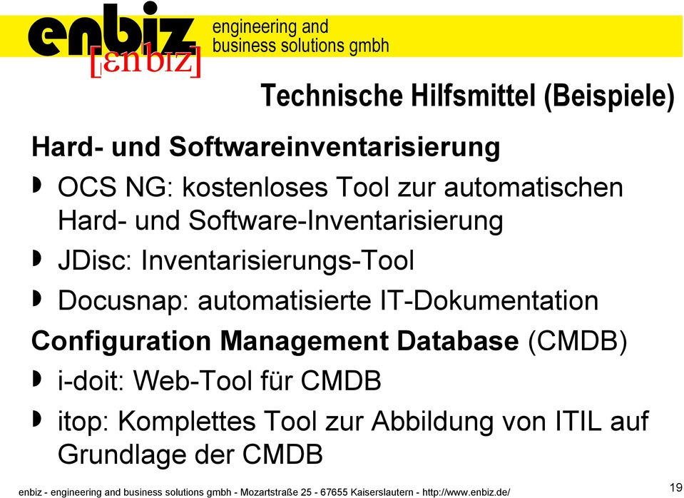 Docusnap: automatisierte IT-Dokumentation Configuration Management Database (CMDB)