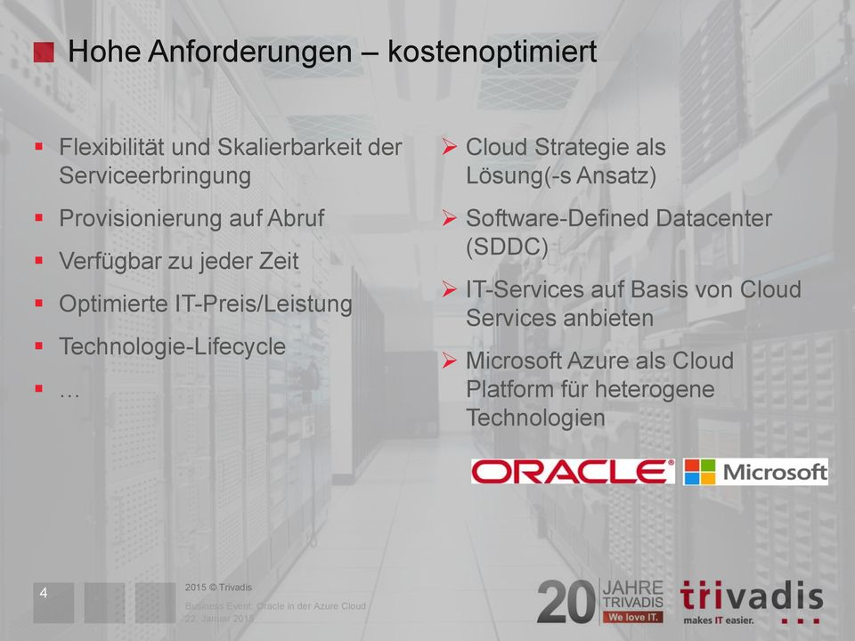 Technologie-Lifecycle Cloud Strategie als Lösung(-s Ansatz) Software-Defined Datacenter (SDDC)