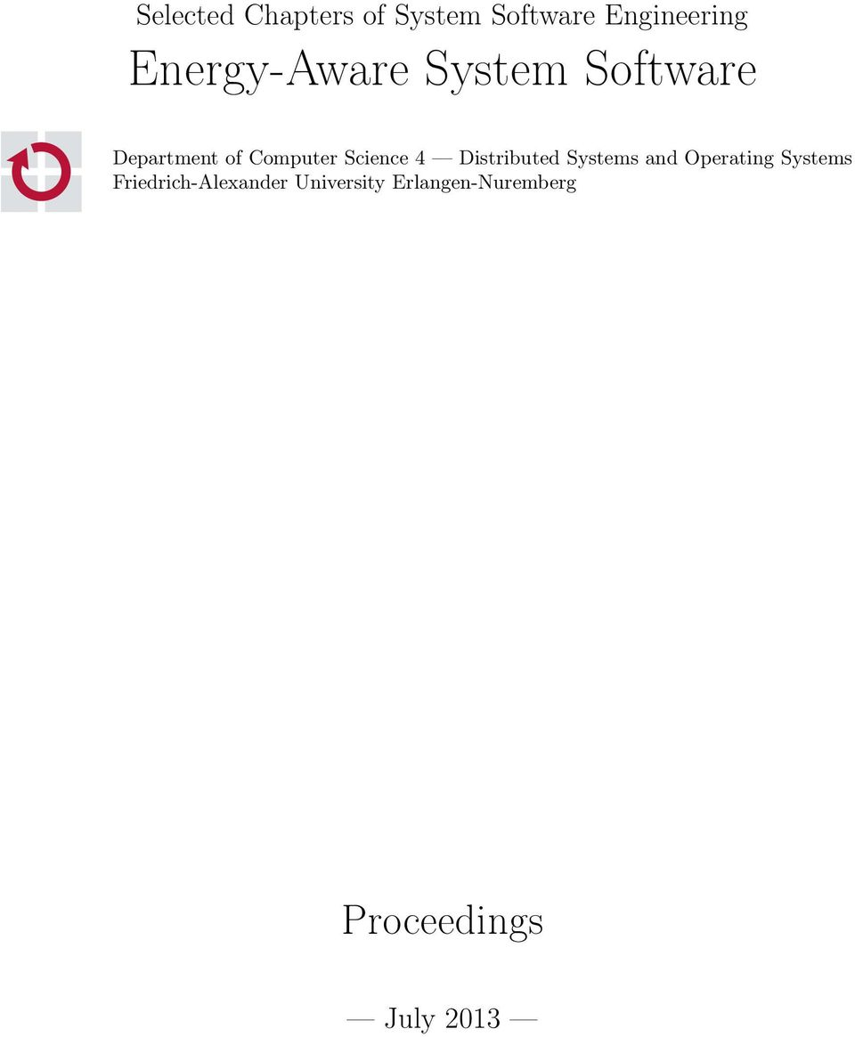 Science 4 Distributed Systems and Operating Systems