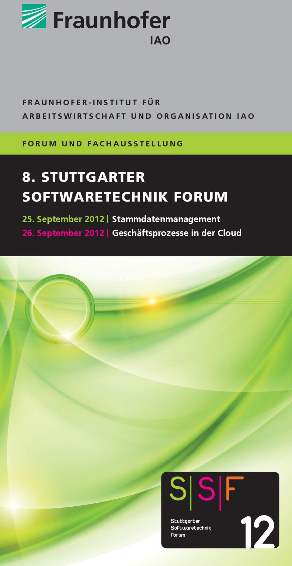 STUTTGARTER SOFTWARETECHNIK FORUM 25.