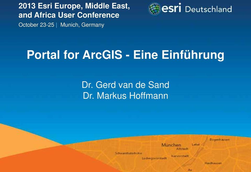 Germany Portal for ArcGIS - Eine