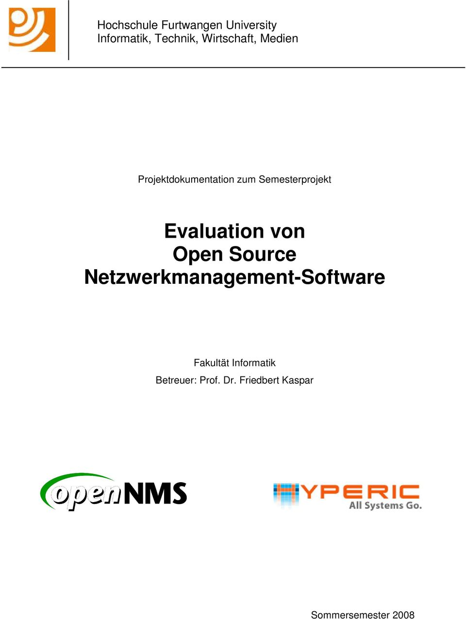Evaluation von Open Source Netzwerkmanagement-Software