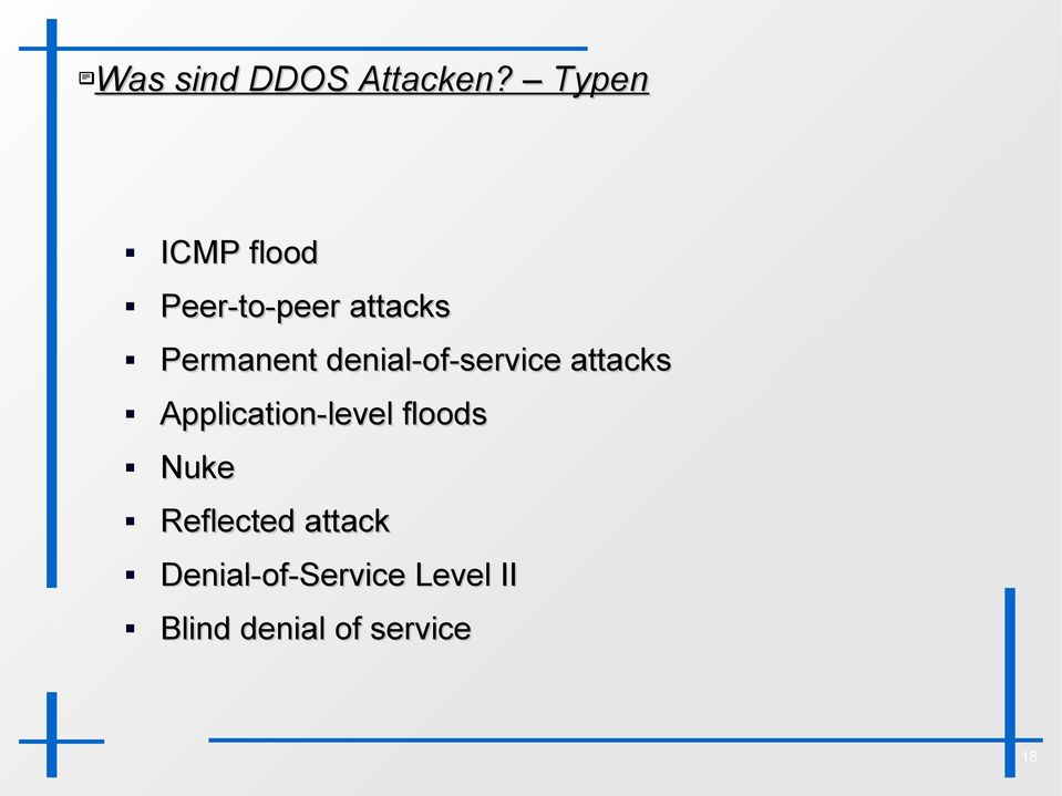 denial-of-service attacks Application-level