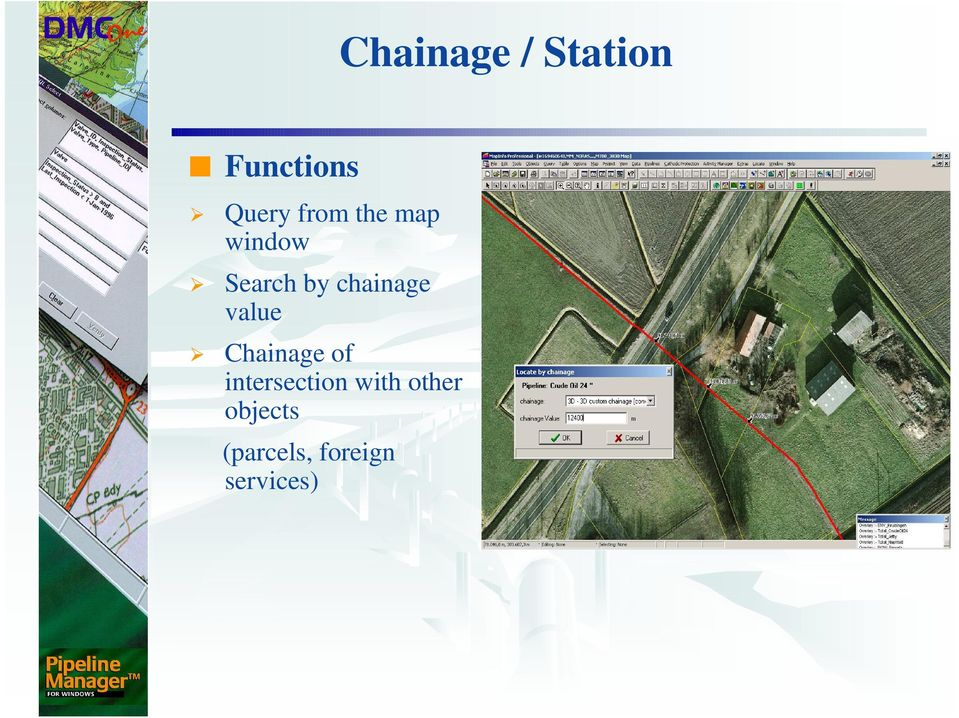 chainage value Chainage of