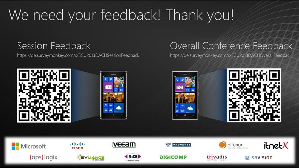com/s/scu2013dachsessionfeedback Overall