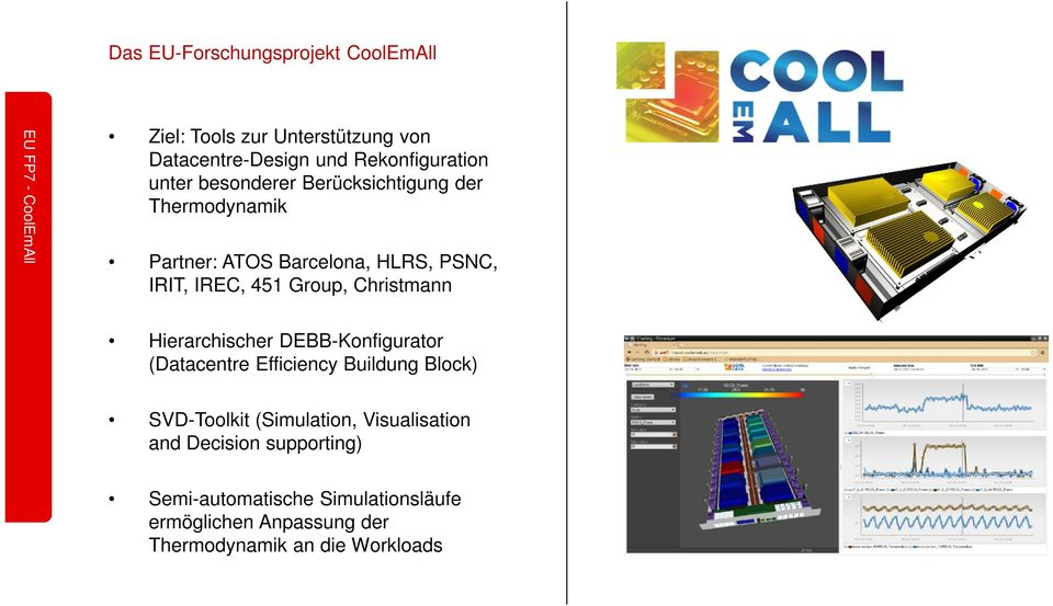 451 Group, Christmann Hierarchischer DEBB-Konfigurator (Datacentre Efficiency Buildung Block) SVD-Toolkit (Simulation,
