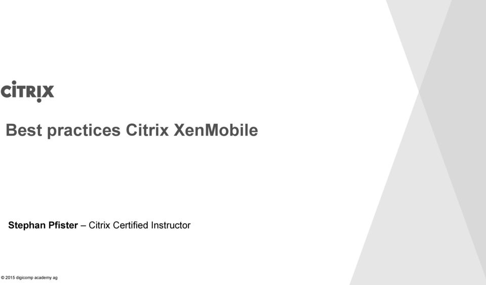 Pfister Citrix Certified