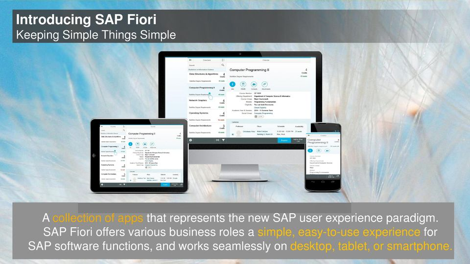 SAP Fiori offers various business roles a simple, easy-to-use experience for SAP