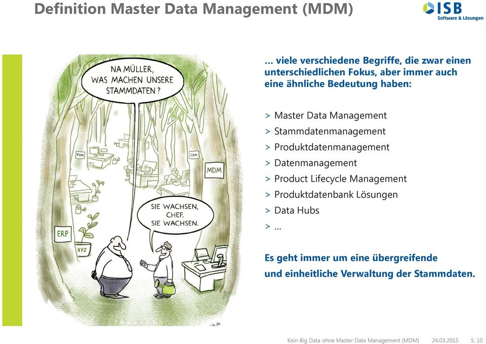 > Datenmanagement > Product Lifecycle Management > Produktdatenbank Lösungen > Data Hubs > Es geht immer um eine