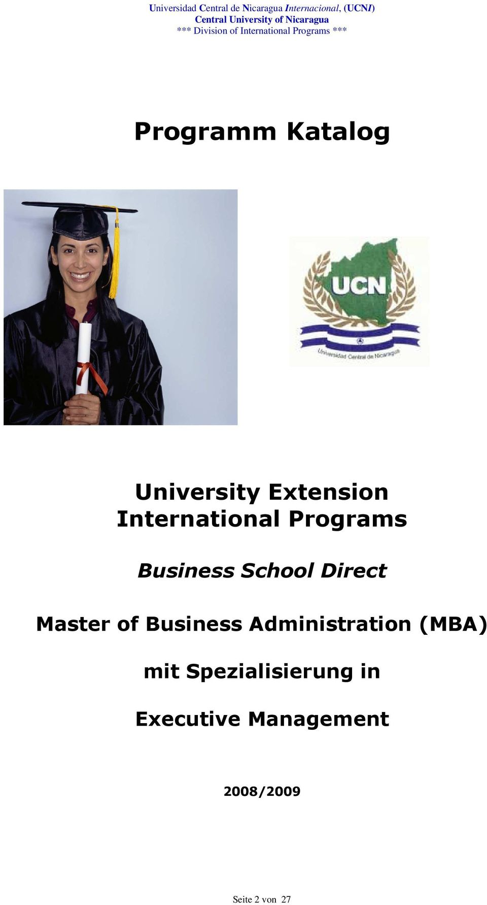 Master of Business Administration (MBA) mit