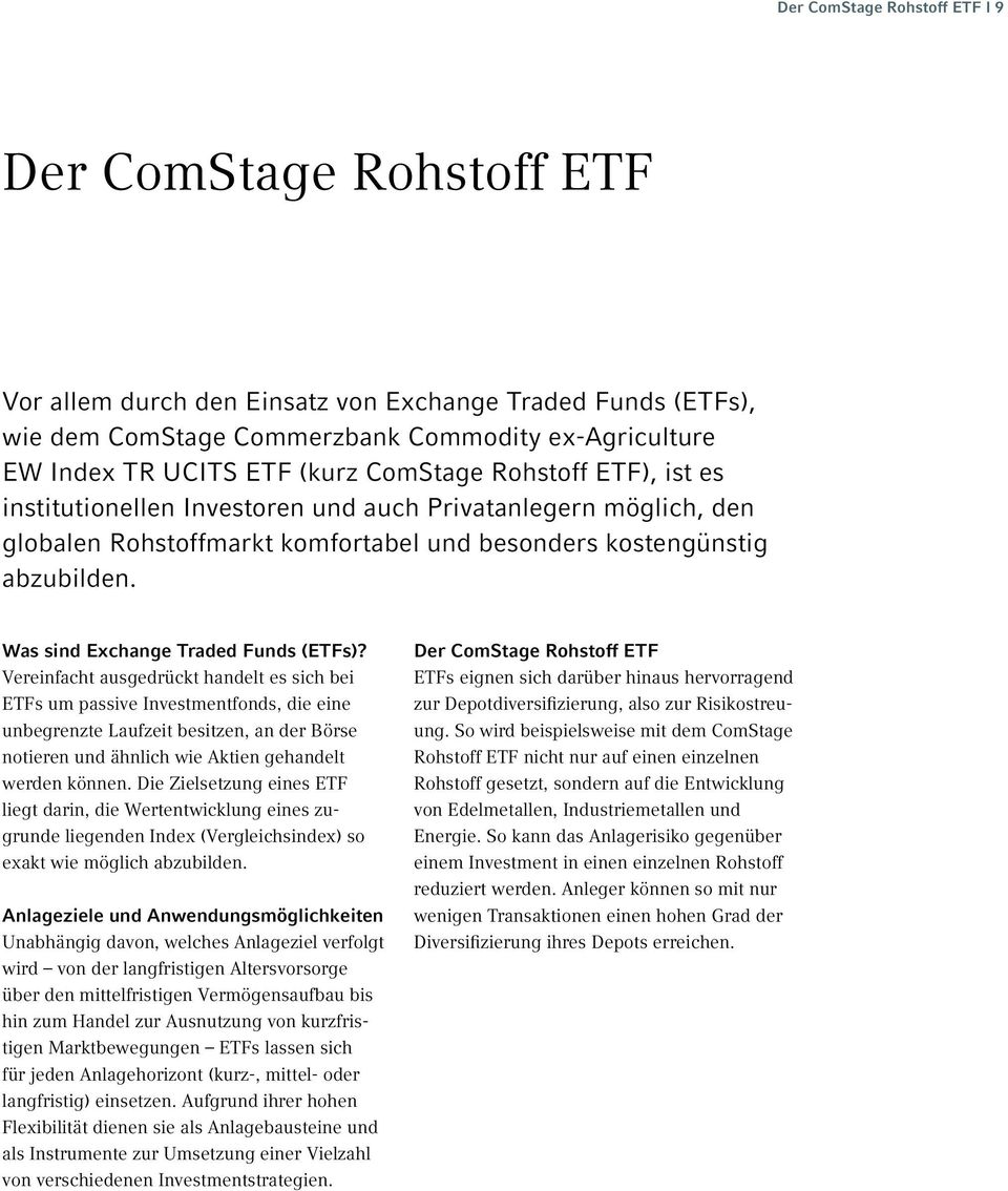 Was sind Exchange Traded Funds (ETFs)?